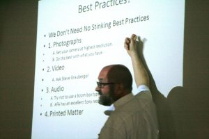We learned Best Practices and techniques from Kevin Nutt (Folklife Archivist at ADAH)
